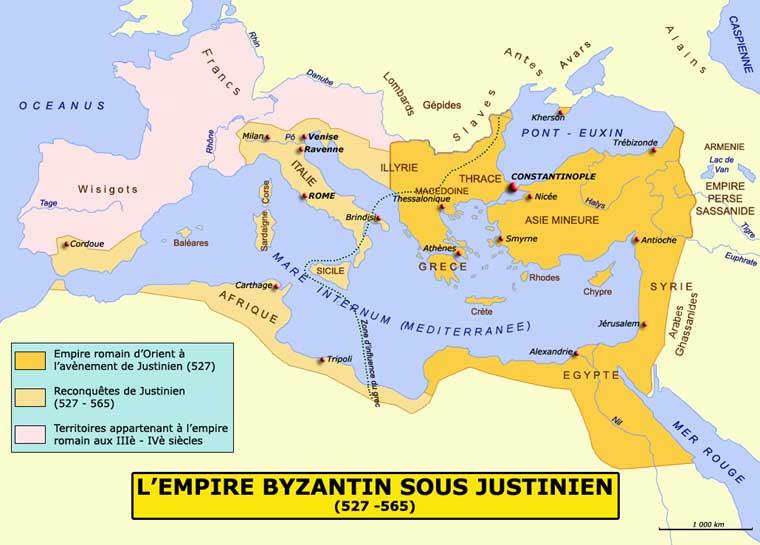 L'empire de Justinien
