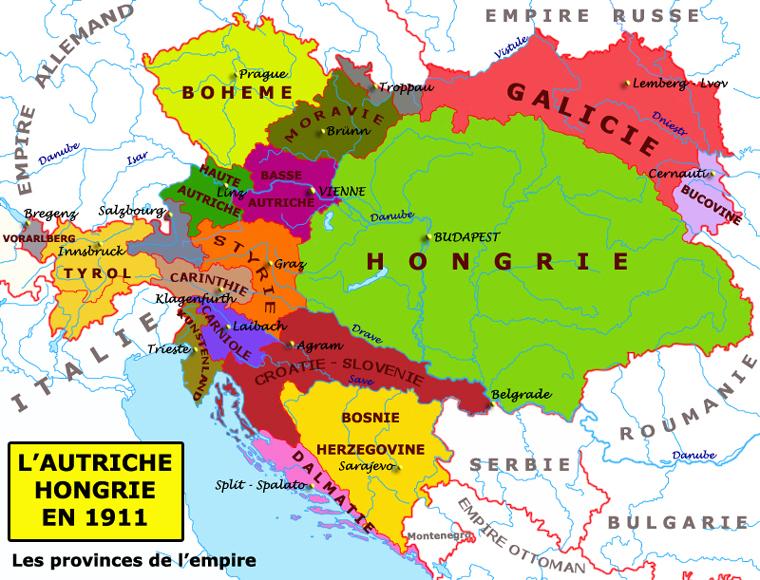 carte europe hongrie