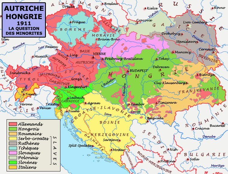 Les Balkans et le problème des minorités dans l'empire austro-hongrois. Une redoutable poudrière