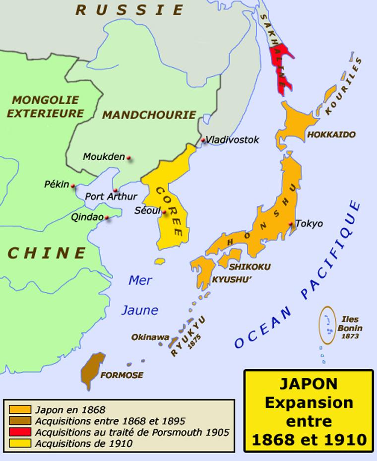 L'expansion japonaise entre 1868 et 1905