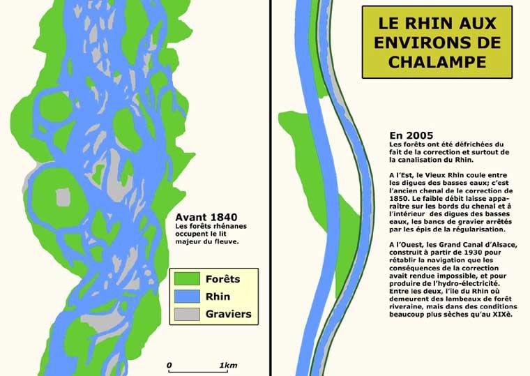 Le Rhin aux environs de Chalamp�