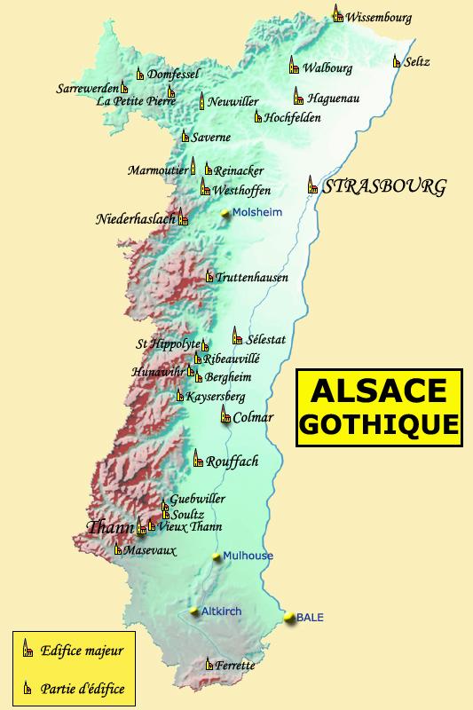 Carte Lalsace.Carte De L Alsace Gothique L Alsace Gothique L Alsace