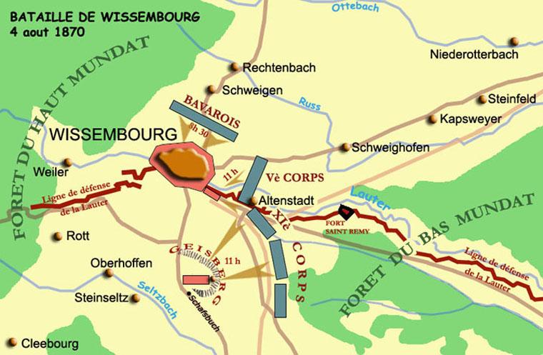 La bataille de Wissembourg le 4 août 1870