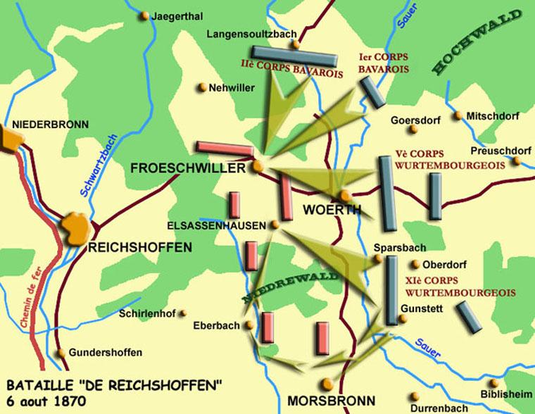 La bataille de Woerth le 6 août 1870
