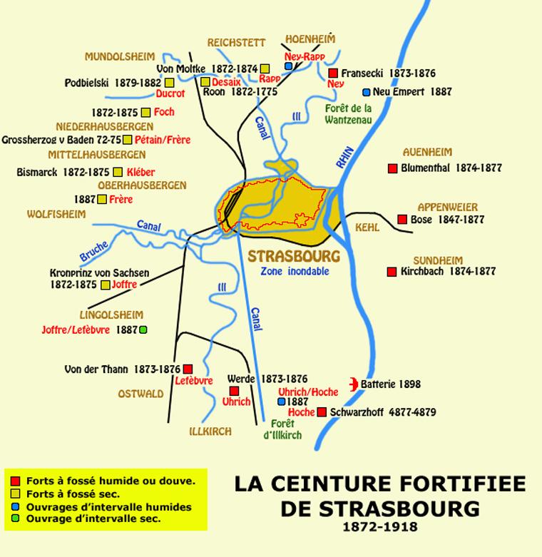 La ceinture fortifiée de Strasbourg: 1872-1918