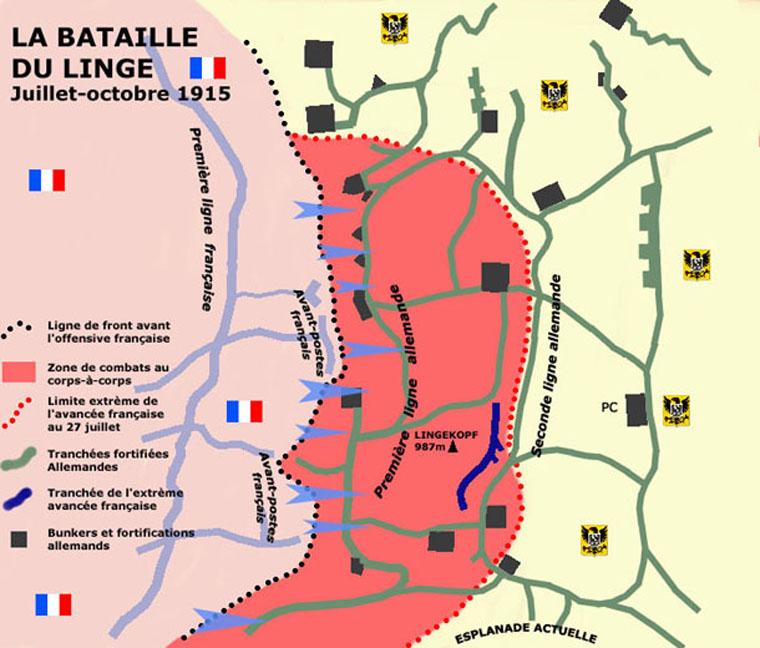 La bataille du Linge en 1915