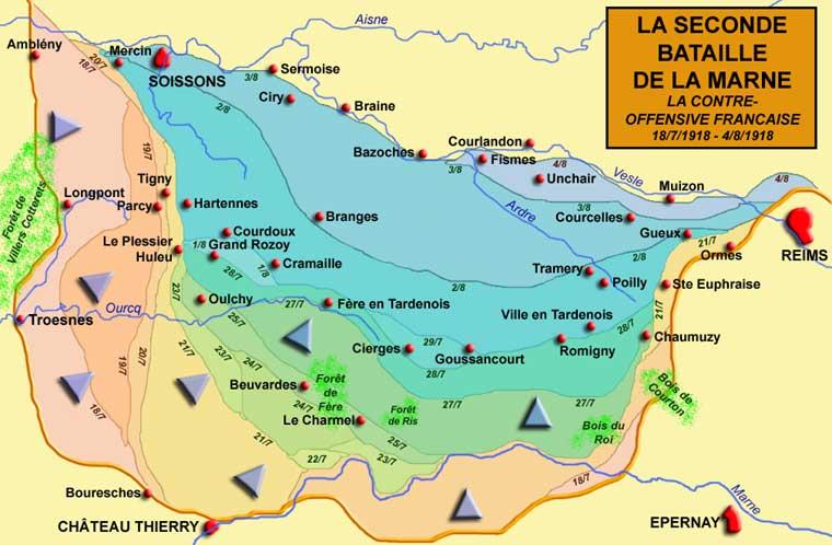La seconde bataille de la Marne : La contre offensive française du 18 juillet au 4 août 1918