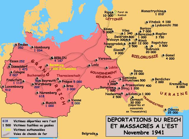 Déportations du Reich et massacres à l'est, novembre 1941
