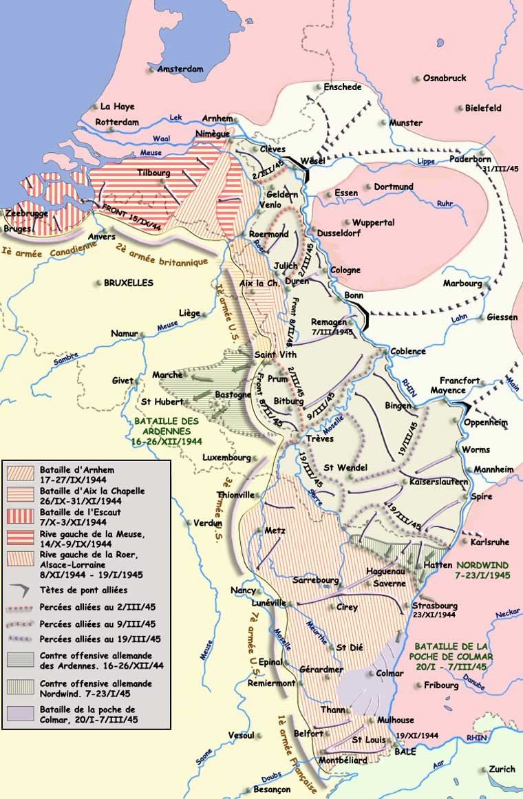 Le front du Rhin, décembre 1944 - mars 1945