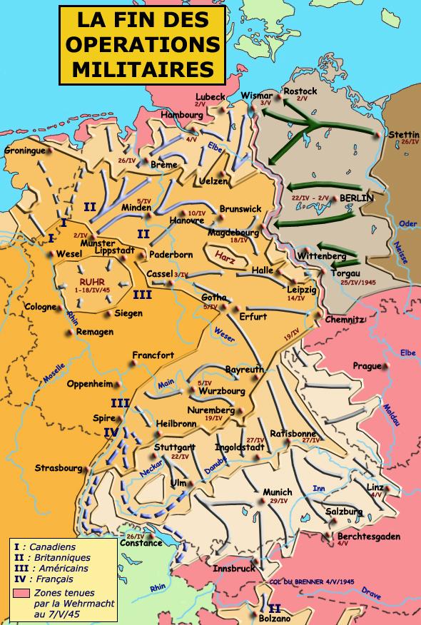 Front ouest: les derniers jours de la guerre, avril - mai 1945