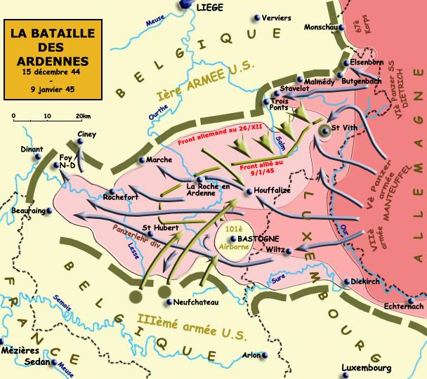 La bataille des Ardennes, décembre 1944 - janvier 1945