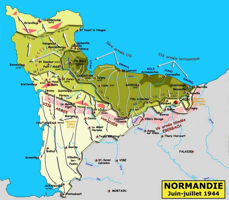 Juin-juillet 1944: la bataille de Normandie
