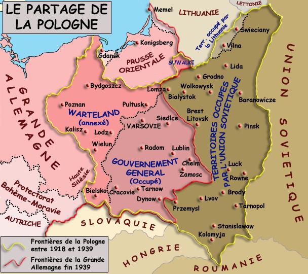 Le partage de la Pologne entre le Reich et l'Union Soviétique