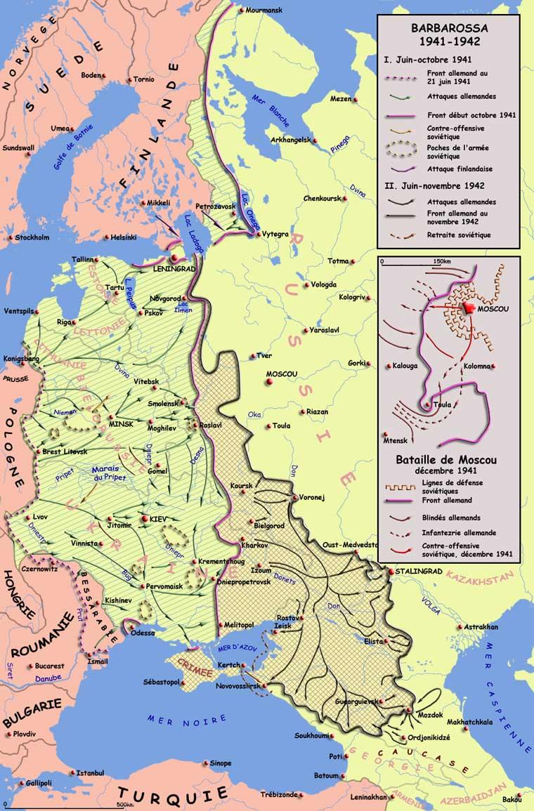 Opération « Barbarossa », juin 1941 - novembre 1942