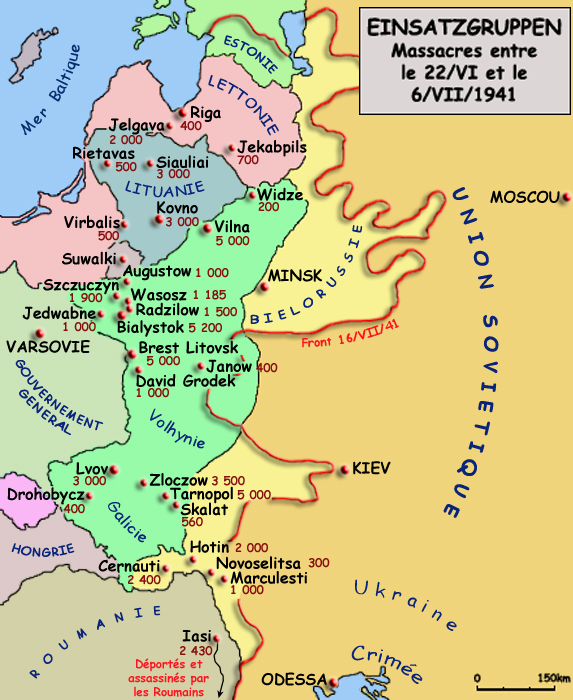 Einsatzgruppen: massacres entre le 22 juin et le 6 juillet 1941
