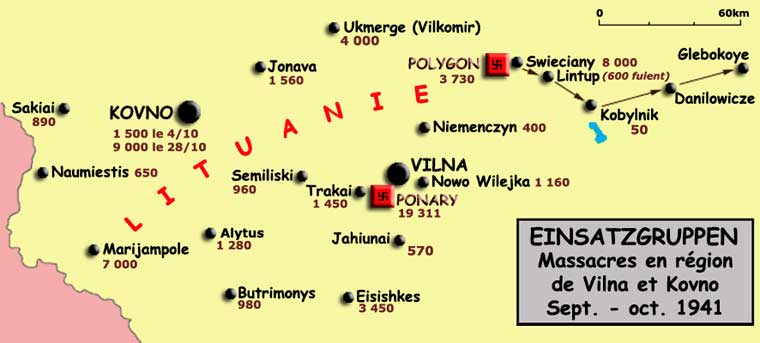 Einsatzgruppen: massacres dans la région de Vilna et Kovno, septembre - octobre 1941