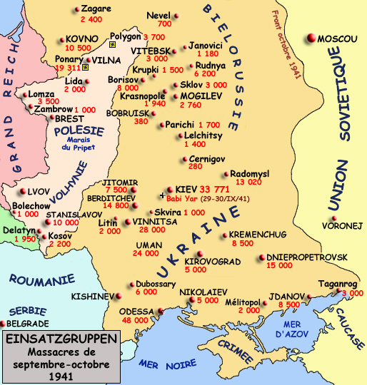 Einsatzgruppen: massacres entre septembre et octobre 1941