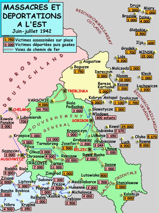 Massacres et déportations à l'Est, juin-juillet 1942