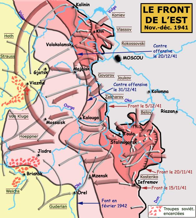 La bataille de Moscou, novembre - décembre 1941