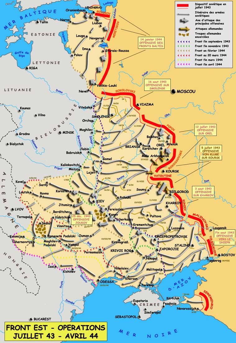 Le front de l'est, juillet 1943 - avril 1944