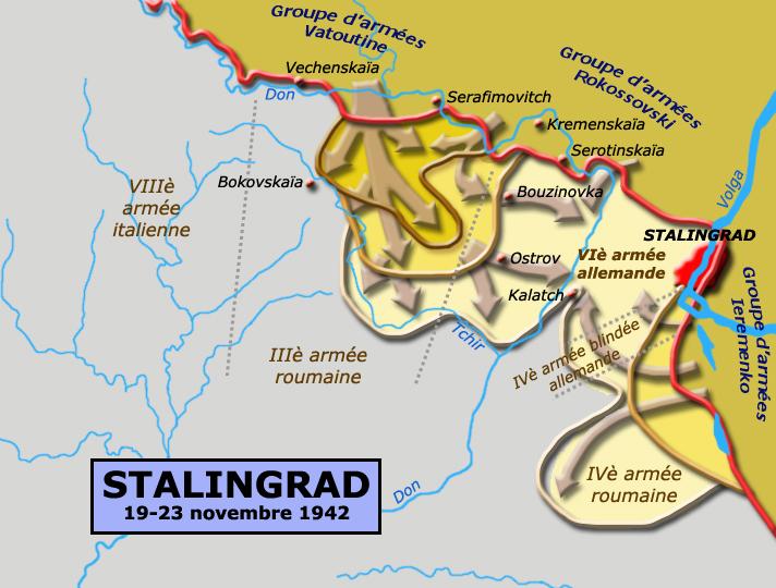 Stalingrad, novembre-décembre 1942 : phase 1