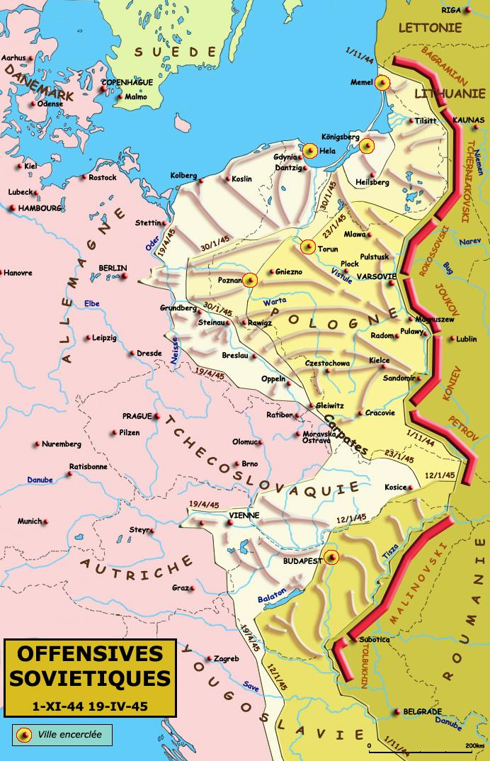 Le front à l'est, novembre 1944 - avril 1945