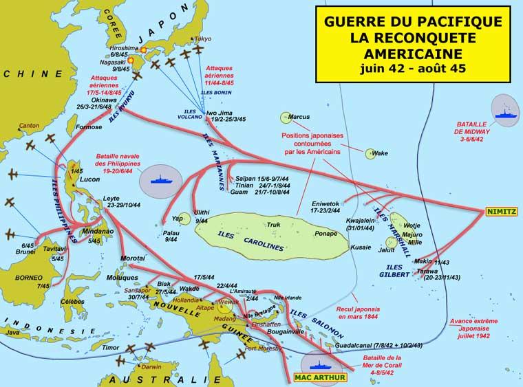 Guerre du Pacifique : la reconquête américaine, juin 1942 – août 1945