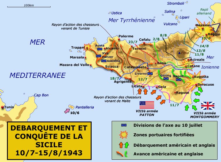 Plan de la conquête de la Sicile