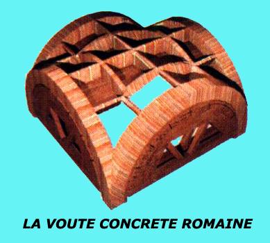 La voûte concrète romaine