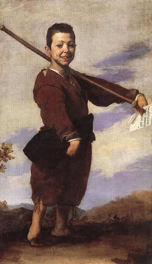José de Ribera: garçon au pied bot. 1642. Huile sur toile, 164 x 92cm. Paris, Musée du Louvre