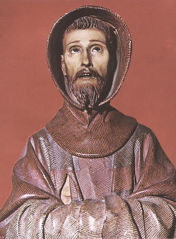 Pedro de Mena: saint François. Bois. Sacristie de la cathédrale de Tolède