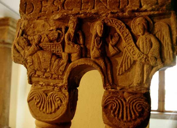 Eschau: chapiteau du cloître conservé au musée de l'œuvre Notre Dame de Strasbourg