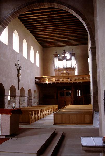 Eschau: la nef de l'abbatiale