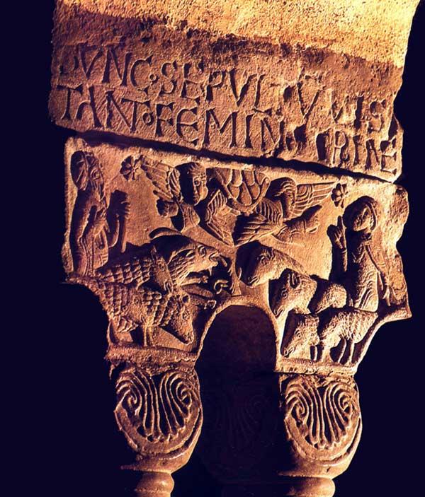 Eschau: chapiteau du cloître. Strasbourg, musée de l'œuvre Notre Dame