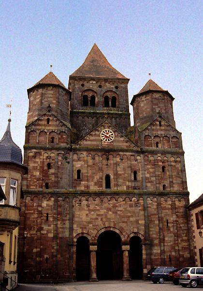 Marmoutier, l'abbatiale: la façade