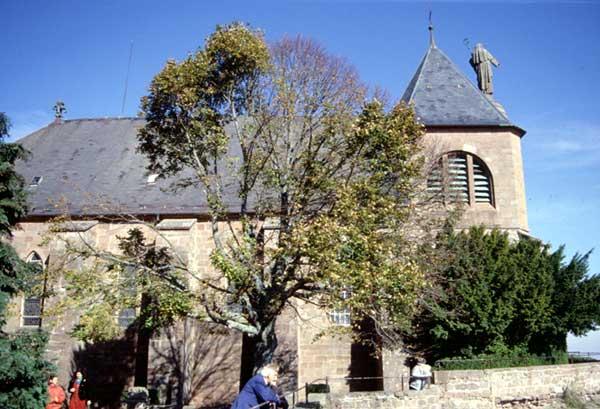 Mont Sainte Odile: l'église