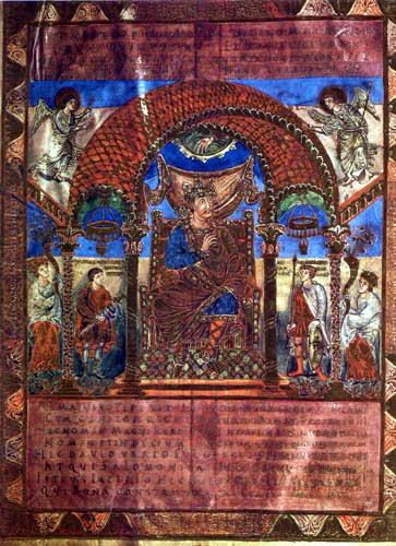 Charles le Chauve. Codex Aureus d'Emmeram, vers 870. Munich, Bayerische Staatsbibliothek