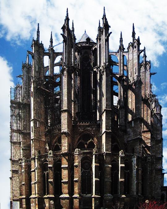 Beauvais: cathédrale saint Pierre: le chevet