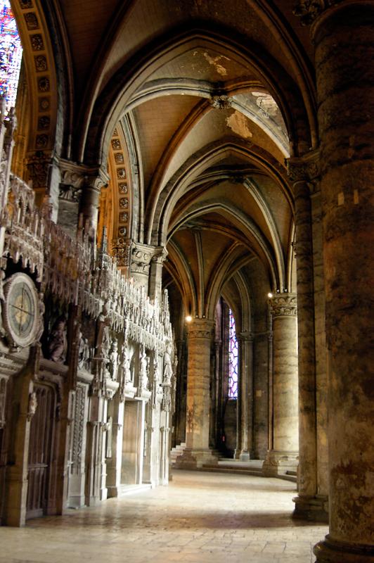 Chartres: cathédrale Notre Dame, déambulatoire