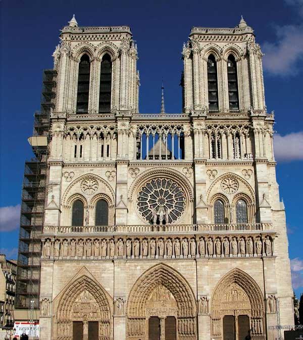 Paris, Notre Dame: façade occidentale