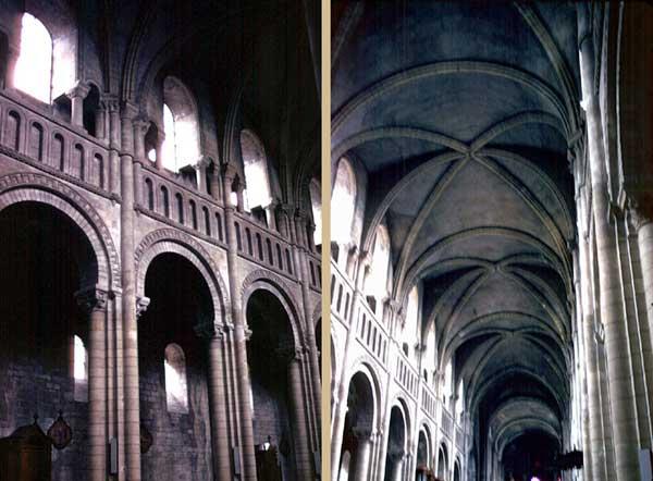 Caen, abbaye de la Trinité ou «abbaye aux Dames». La nef centrale