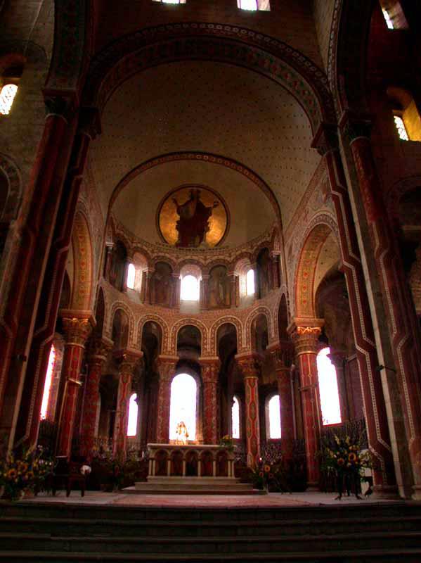 Issoire (Puy du Dôme), saint Austremoine: le chœur