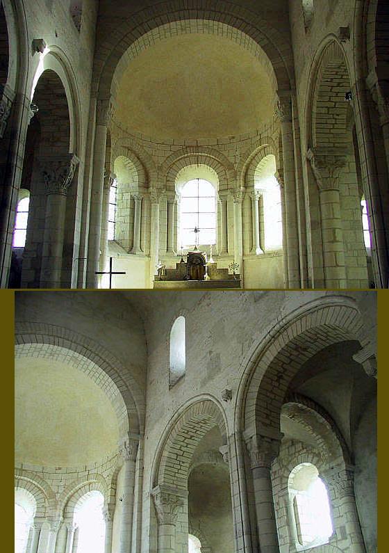 Plaimpied (Cher): abbatiale saint Martin. Le chœur