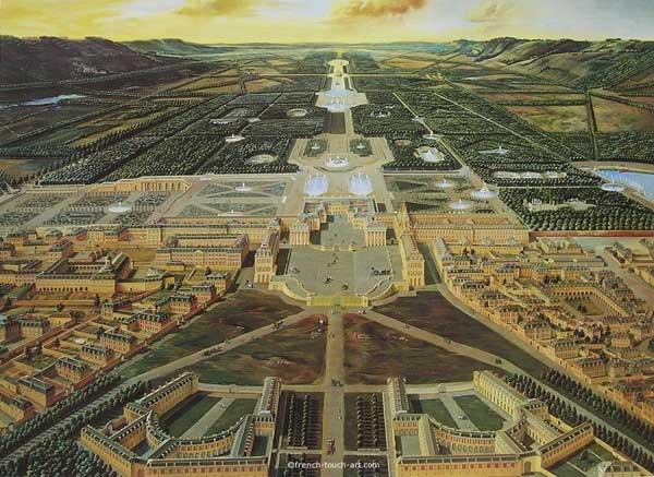 Vue générale de Versailles vers 1715