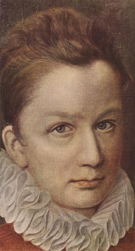 Pierre Dumonstier: portrait d'un jeune homme. 1570-1575. Huile sur toile, 32 x 19cm. Saint-Pétersbourg, Musée de l'Hermitage