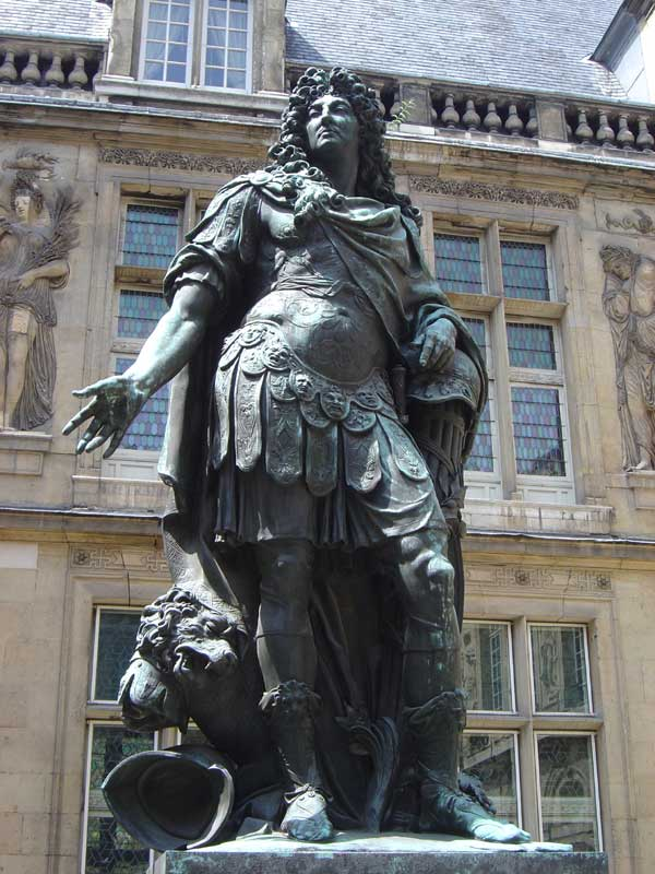 Antoine Coysevox: Louis XIV. Cour de l'Hôtel Le Pelletier de Saint-Fargeau à Pari