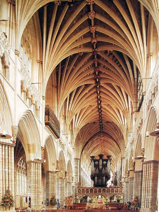 Cathédrale d'Exeter: la nef centrale