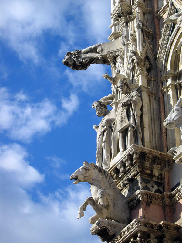 Sienne, le dôme: détail de la façade
