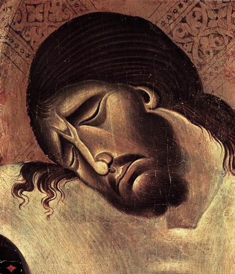 Cimabue. Crucifix (détail); 1268-1271. Tempera sur bois. Arezzo, San Domenico