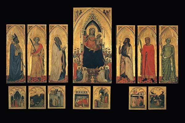 Bernardo Daddi: Polyptyque de saint Pancrace. 1336-1340. Tempera sur bois. Florence, les Offices